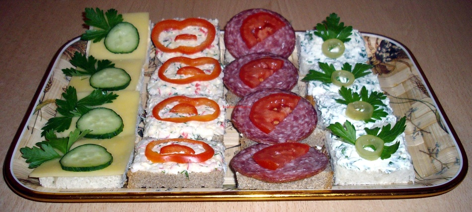 Бутерброды холодные рецепты с фото простые