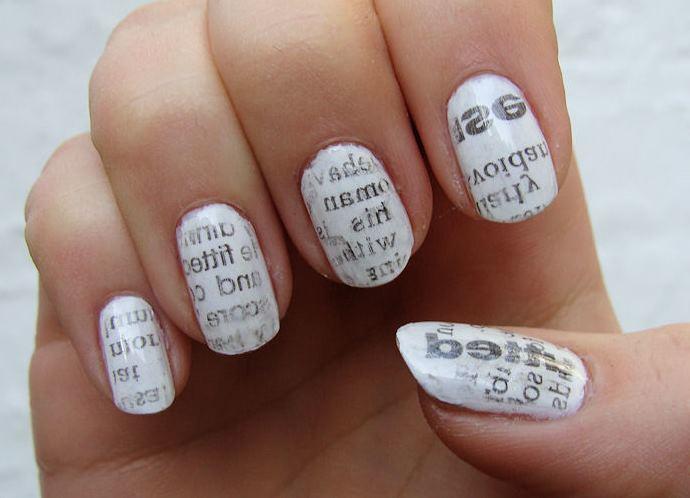 Как сделать надпись на ногтях