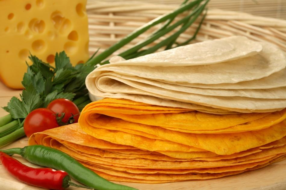 Рецепт с мексиканскими лепешками и творожным сыром