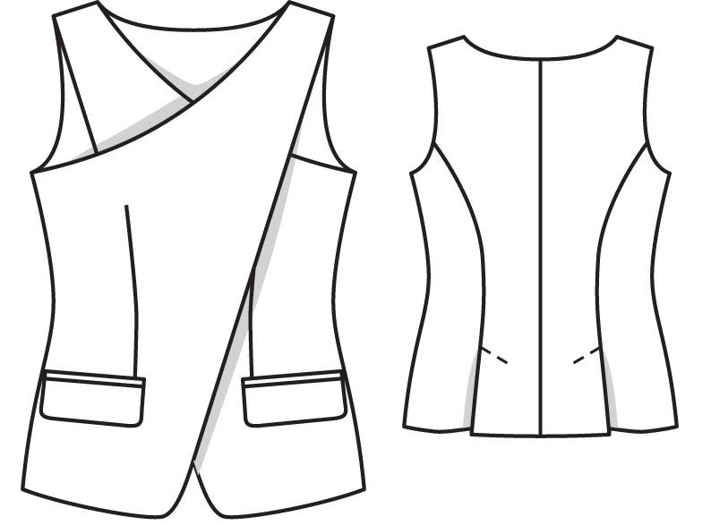 Как сшить жилетку и юбку 152