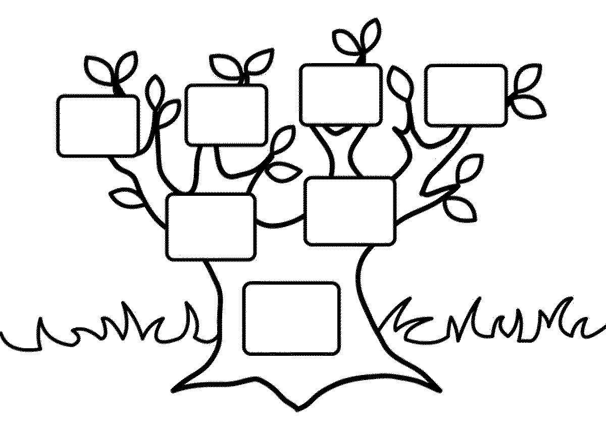 генеалогическое дерево шаблон 4 поколения