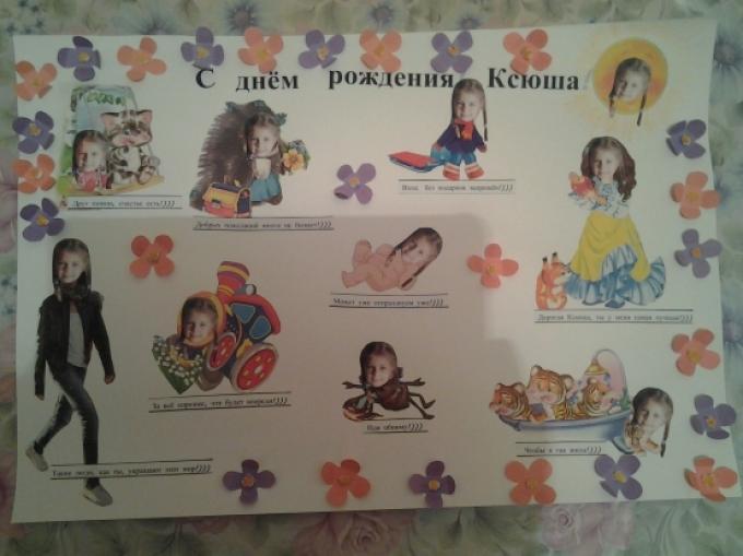 Плакаты ко дню рождения своими руками сестре 651