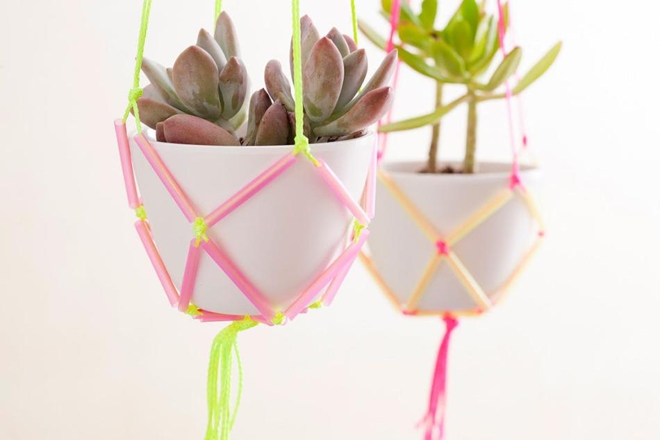 Как сделать подвесные горшки для цветов