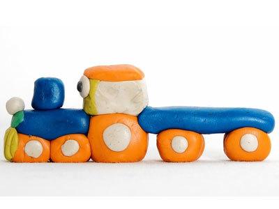 Поделки из пластилина паровозик 38