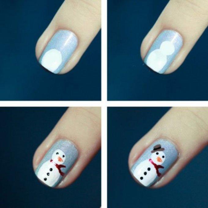 Новогодние ногти своими руками