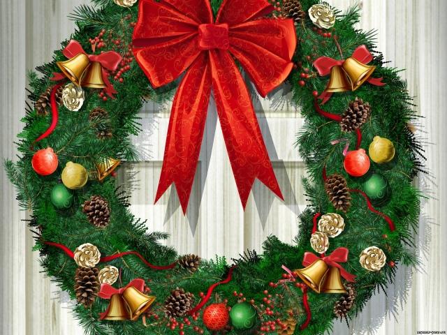 Как закрепить новогодний венок на двери своими руками Shtory-Vlg.ru