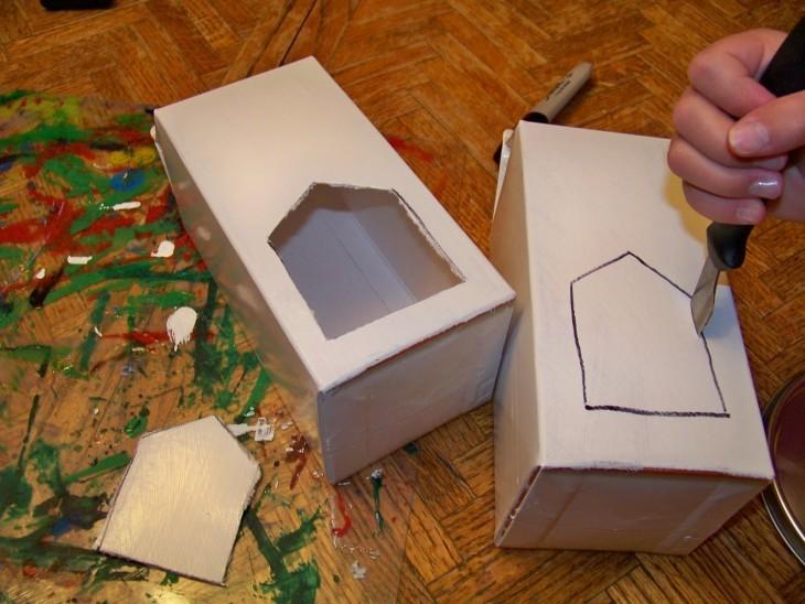 Кормушка своими руками картон 785