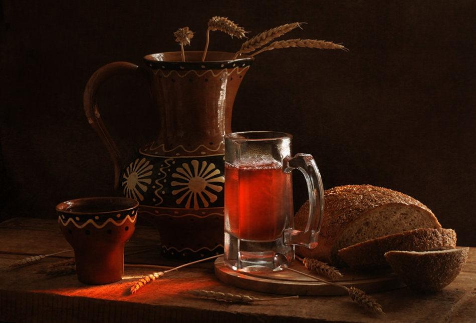 Домашний квас из черного хлеба