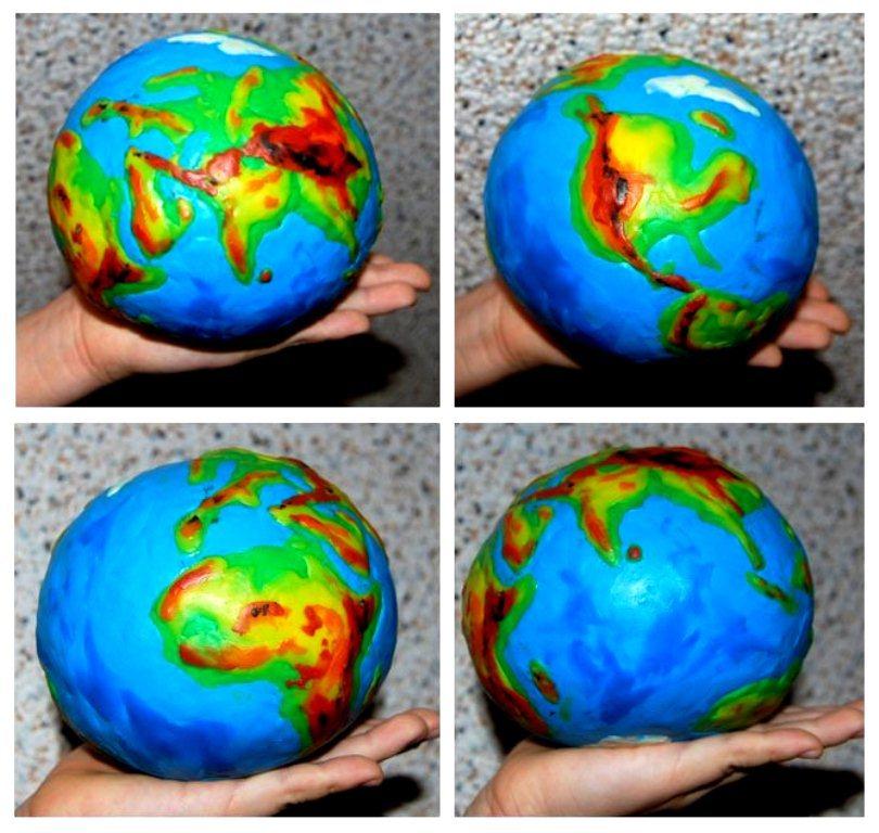 Модель глобуса своими руками
