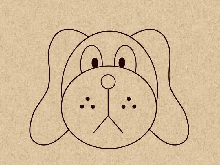 Как нарисовать щенка: шаг 7