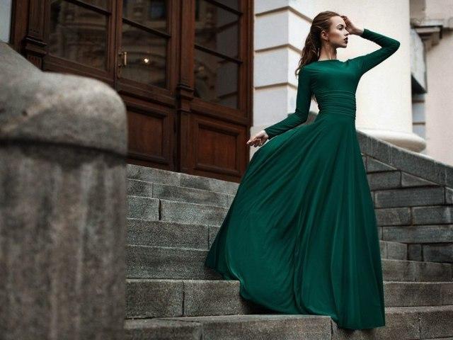 Картинки изумрудное платье