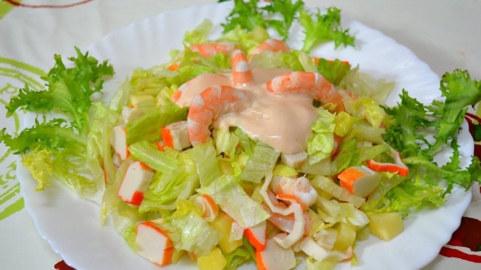 рецепт и приготовление салата айсберг