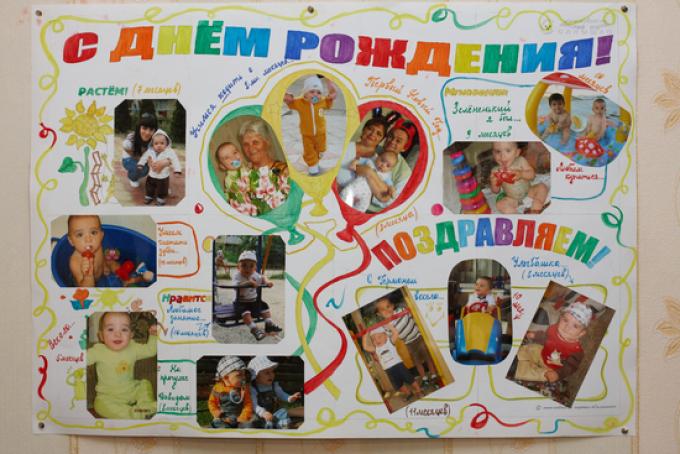 Плакат ребенку на день рождения своими руками