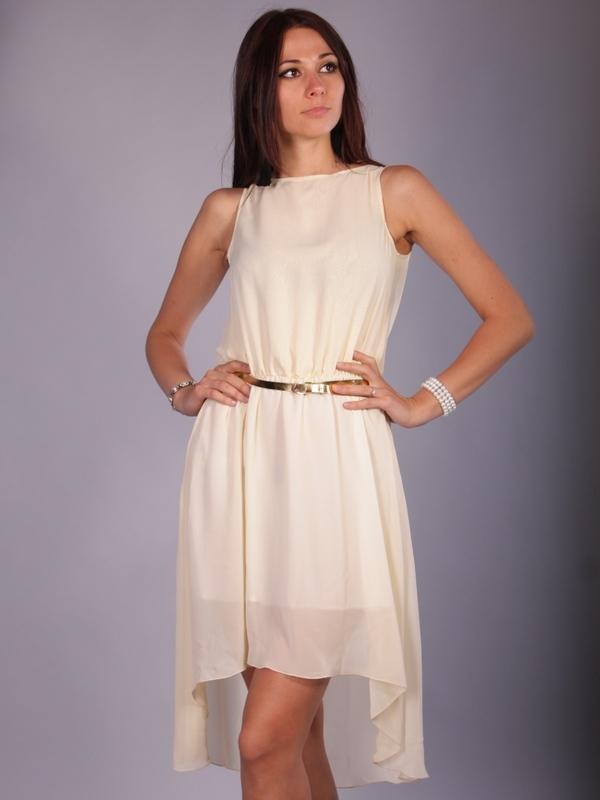 Простое платье из шифона без выкройки может быть и коротким