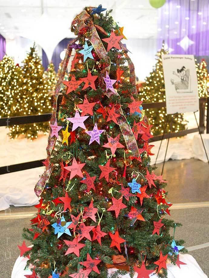Украшение елки звездами