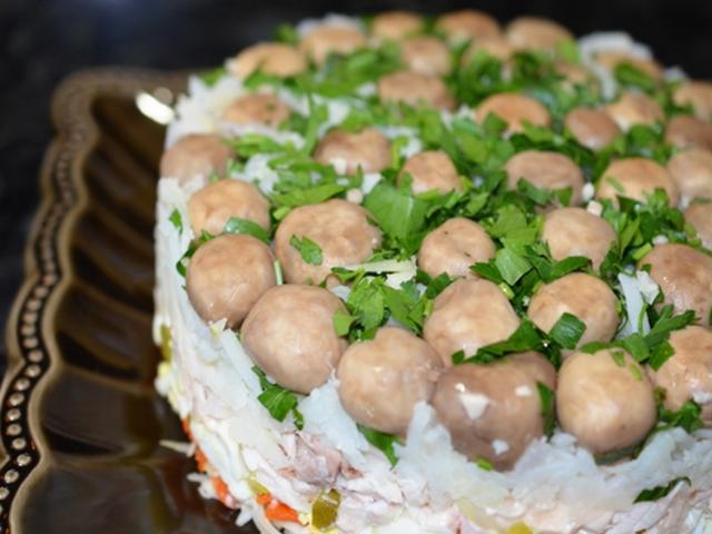 грибная поляна с сыром рецепт пошаговый