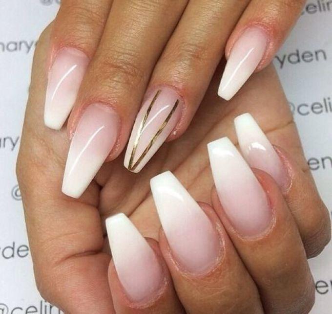 Нарощенные ногти дизайн омбре 70