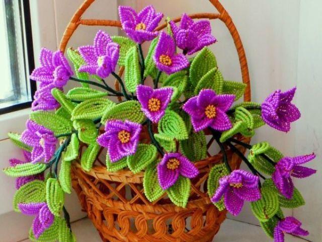 Цветы из бисера мастер классы, схемы и пошаговые 29