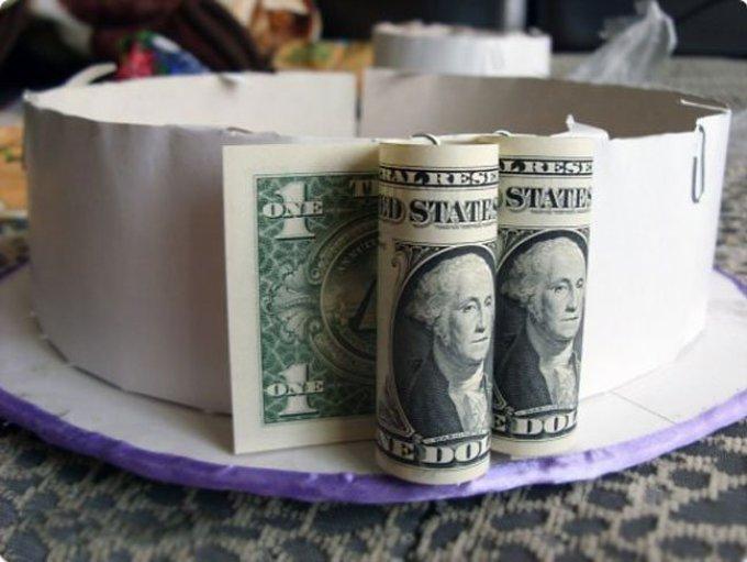 Сделать подарок из денег быстро 62
