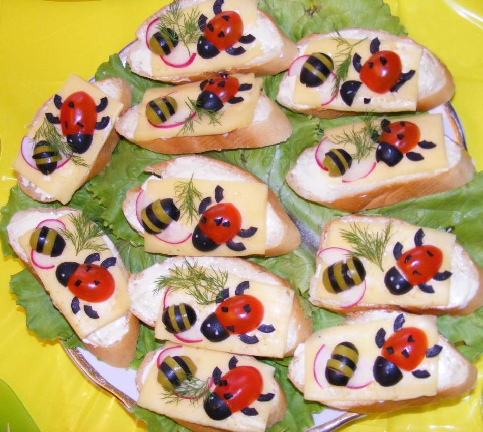 Детские бутерброды: идеи, рецепты