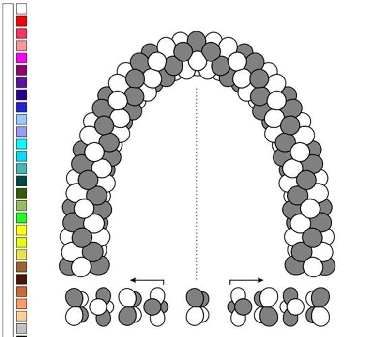 Плетение гирлянд из шаров схемы