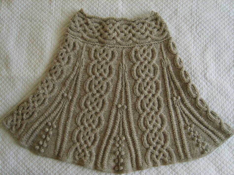 Вязание спицами гофре на юбке