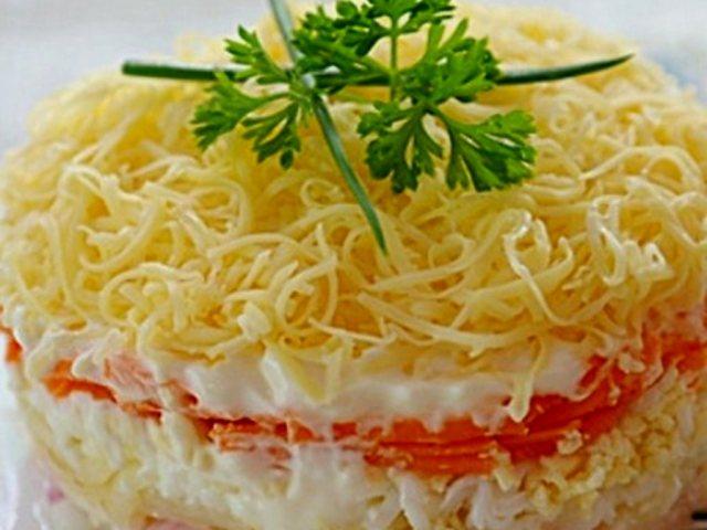Салат из мяса нежность