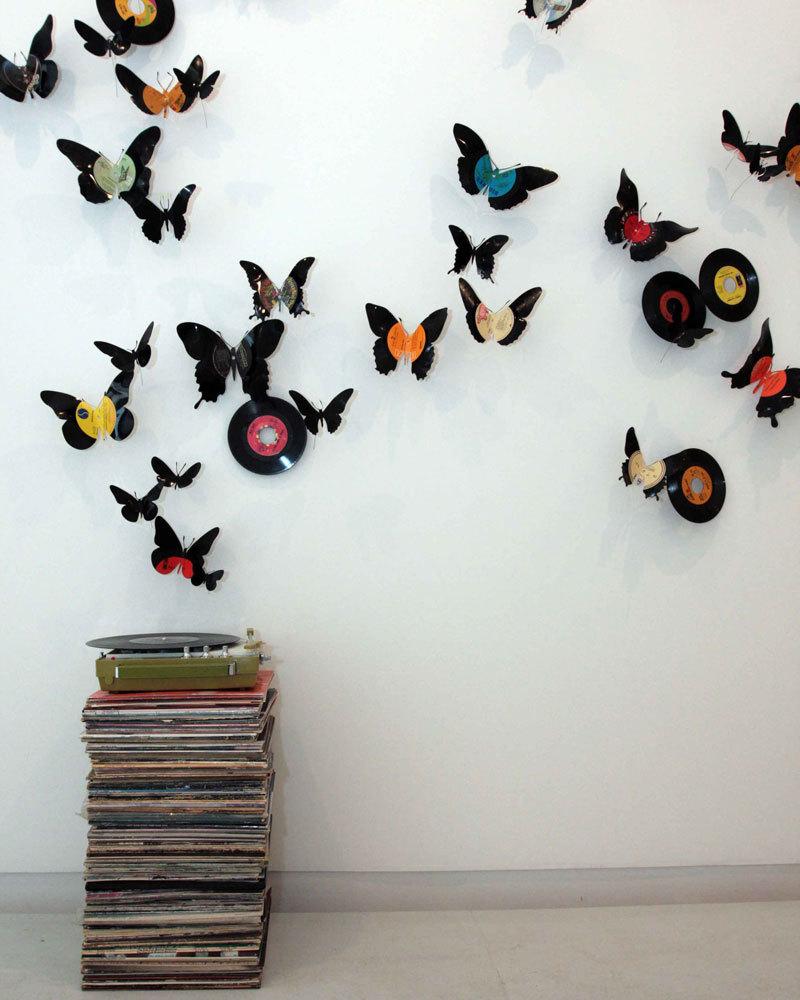 Бабочки на стене своими руками 100