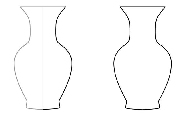 Простая ваза, которую может нарисовать ребенок.