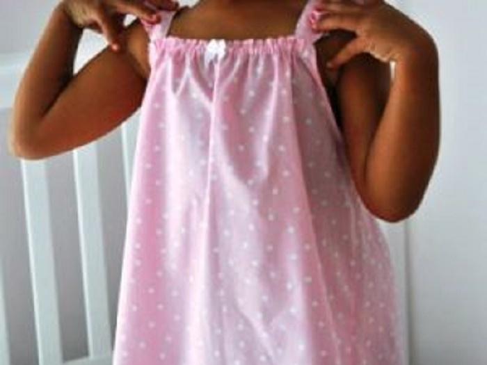 Ночная сорочка своими руками для девочки 46
