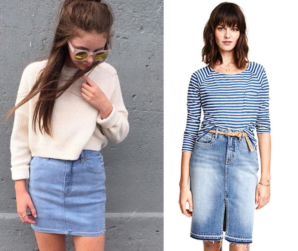 Юбки из джинсовых штанов