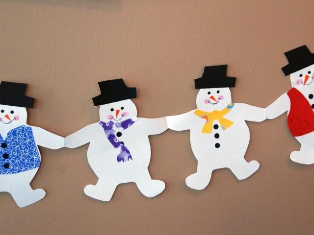 Рисунки снеговиков для вырезания