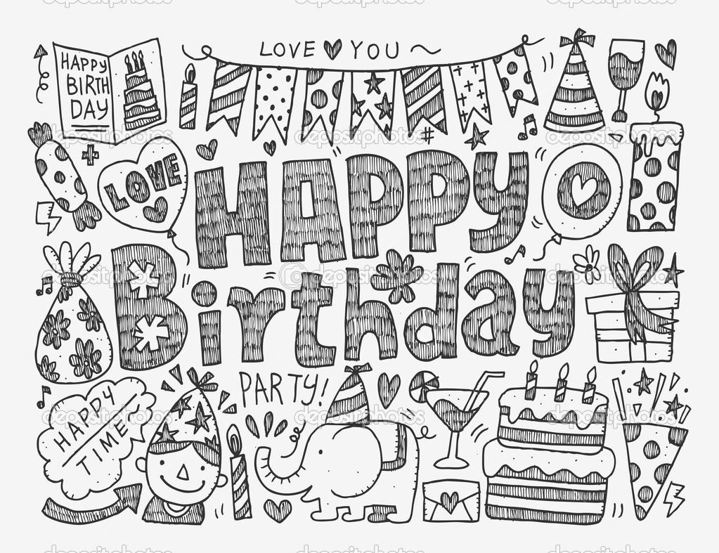 картинки с днем рождения срисовать