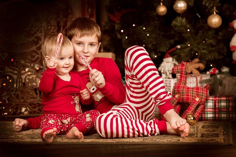 Фото с новогодними карамельками