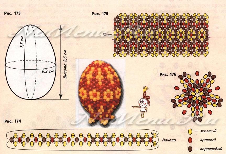Яйцо из бисера своими руками