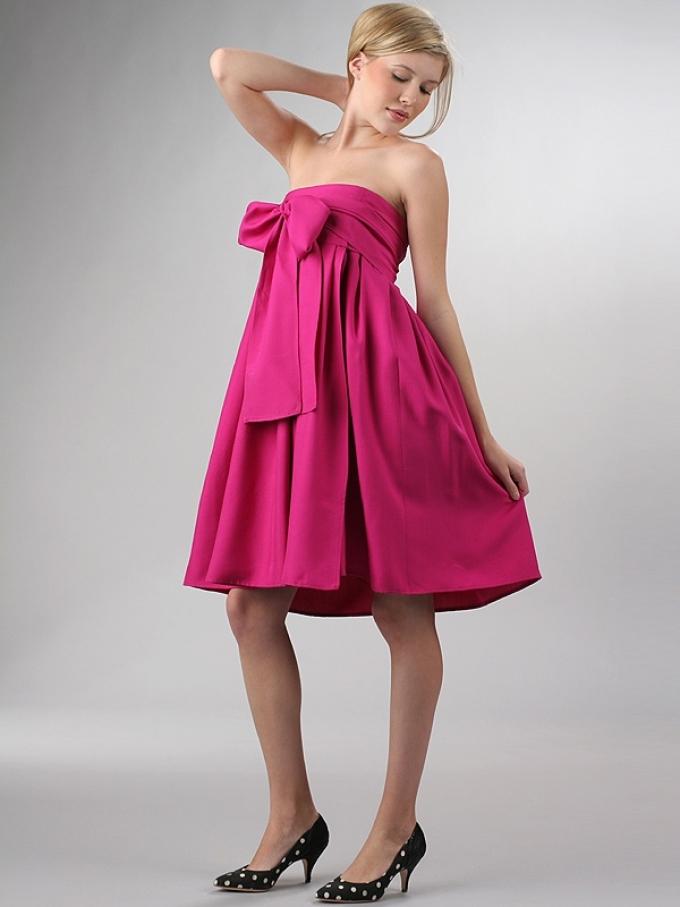 Простое платье-бюстье без выкройки для беременных - отличный вариант