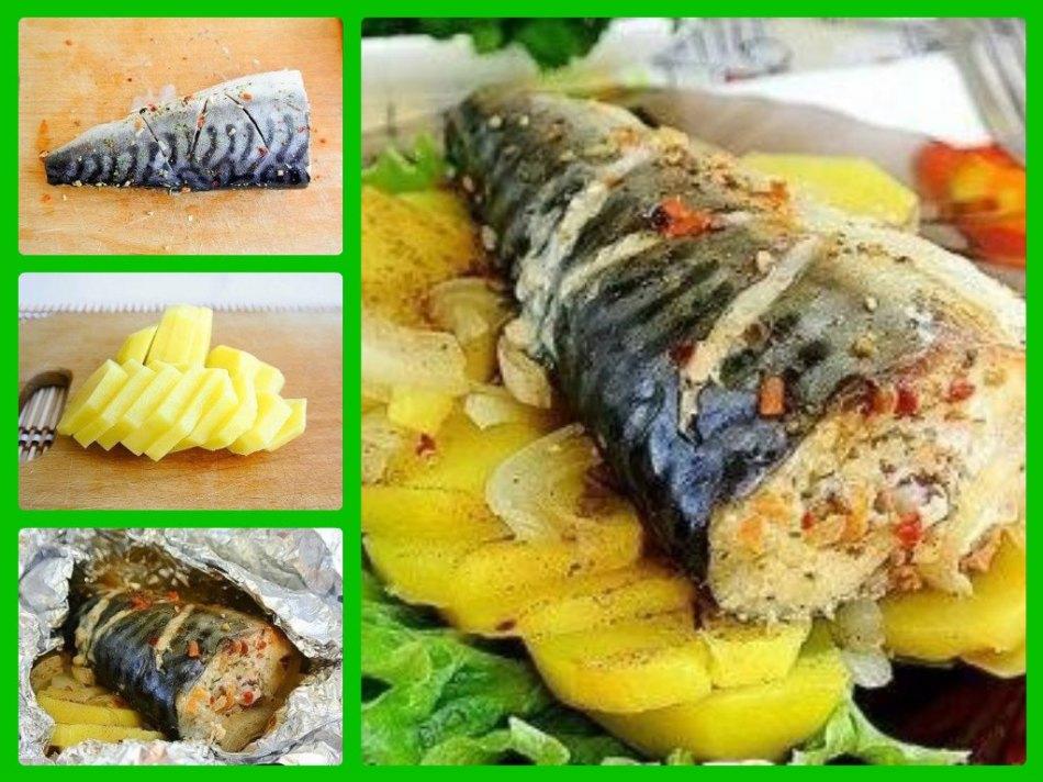 Рыбное блюдо в духовке