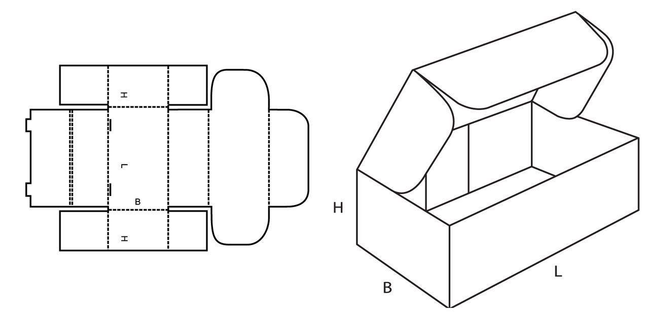 Коробочка с крышкой своими руками из бумаги схема