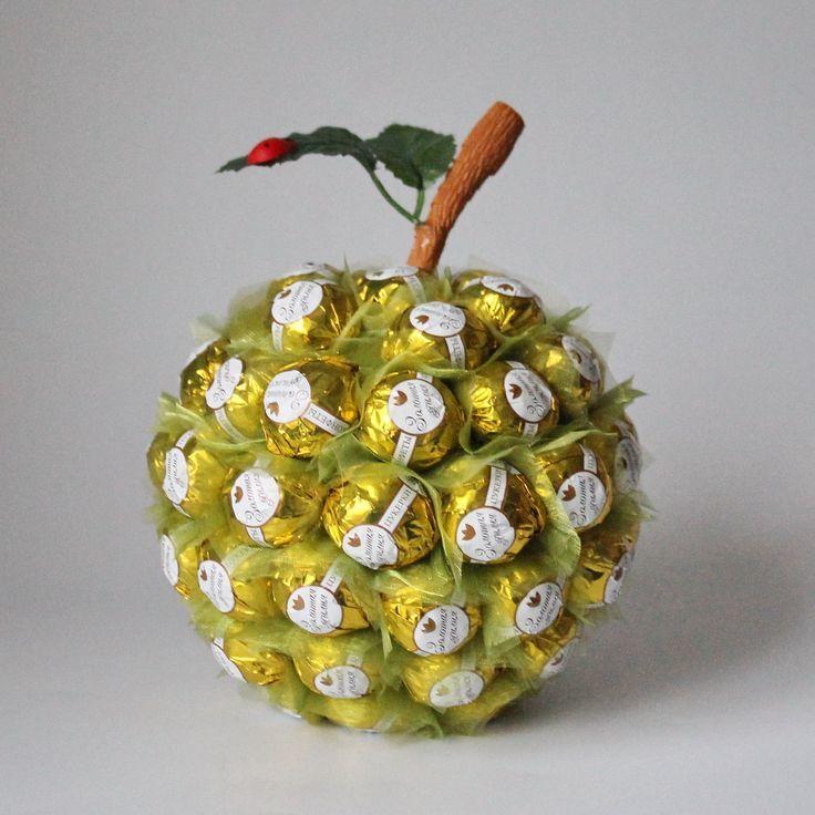 Как сделать из конфет фрукты своими руками  511