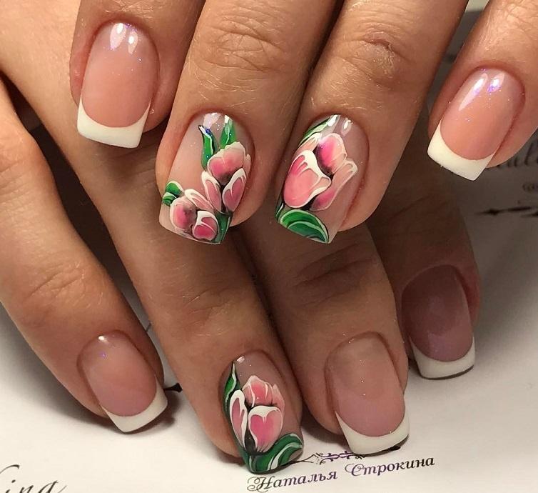 Нарощенные ногти френч 2018 фото новинки весна