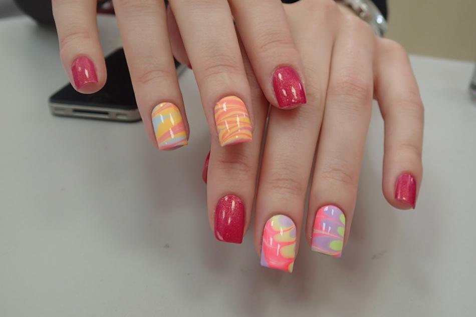 Узоры на ногтях с иголкой для начинающих фото