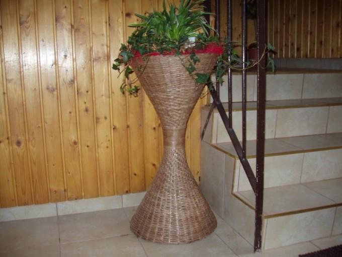 Как сделать плетеную вазу