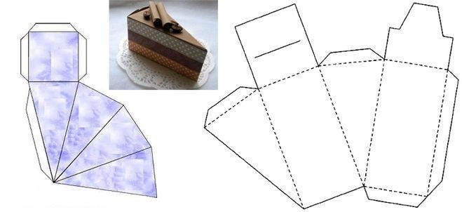 Как сделать треугольные коробочки из картона