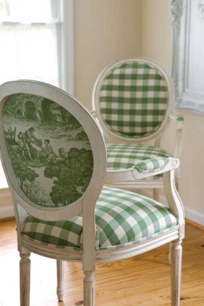 Декупаж стула в викторианском стиле