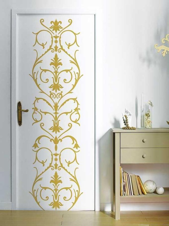 Декор своими руками межкомнатных дверей