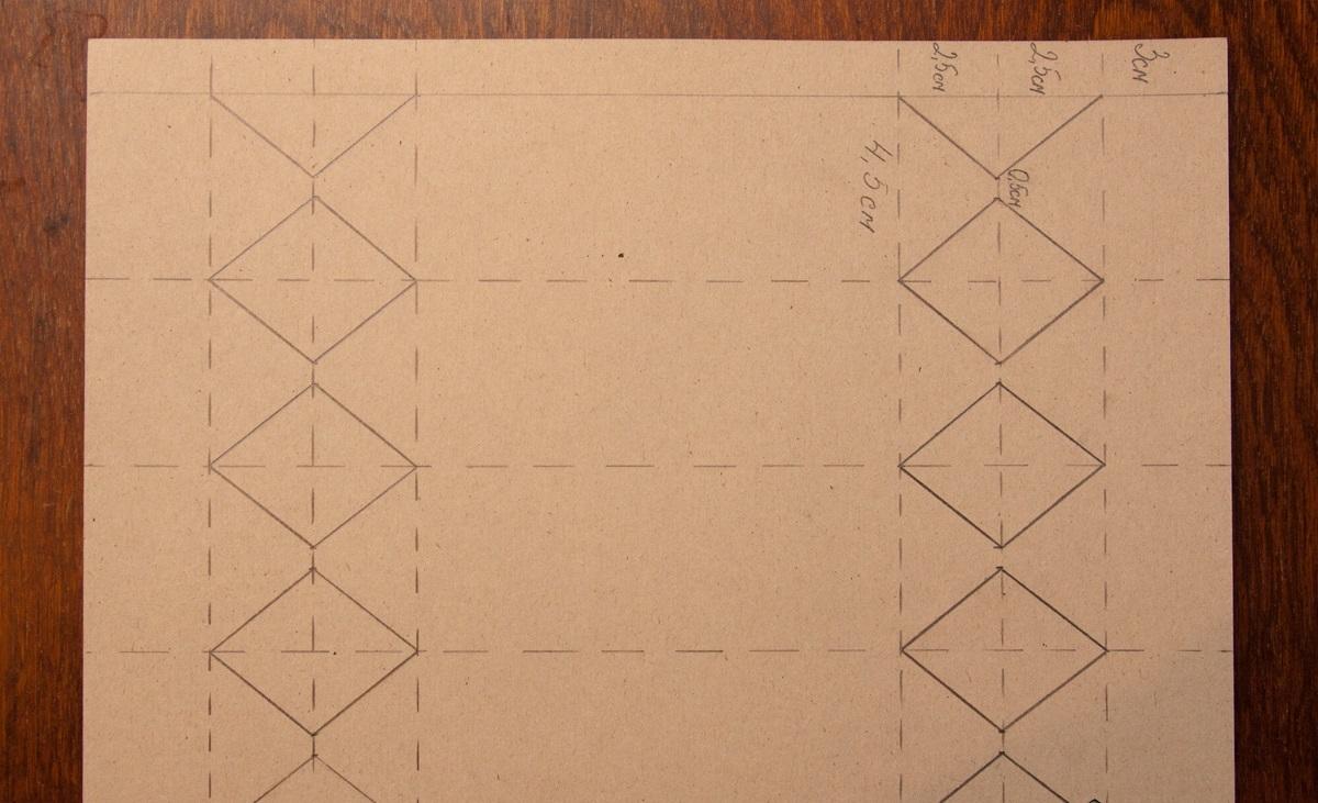 Схема для создания упаковки для конфет
