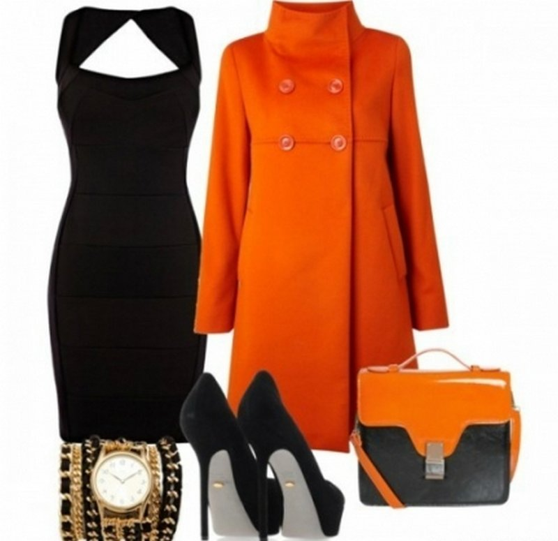 Сочетание платья с верхней одеждой