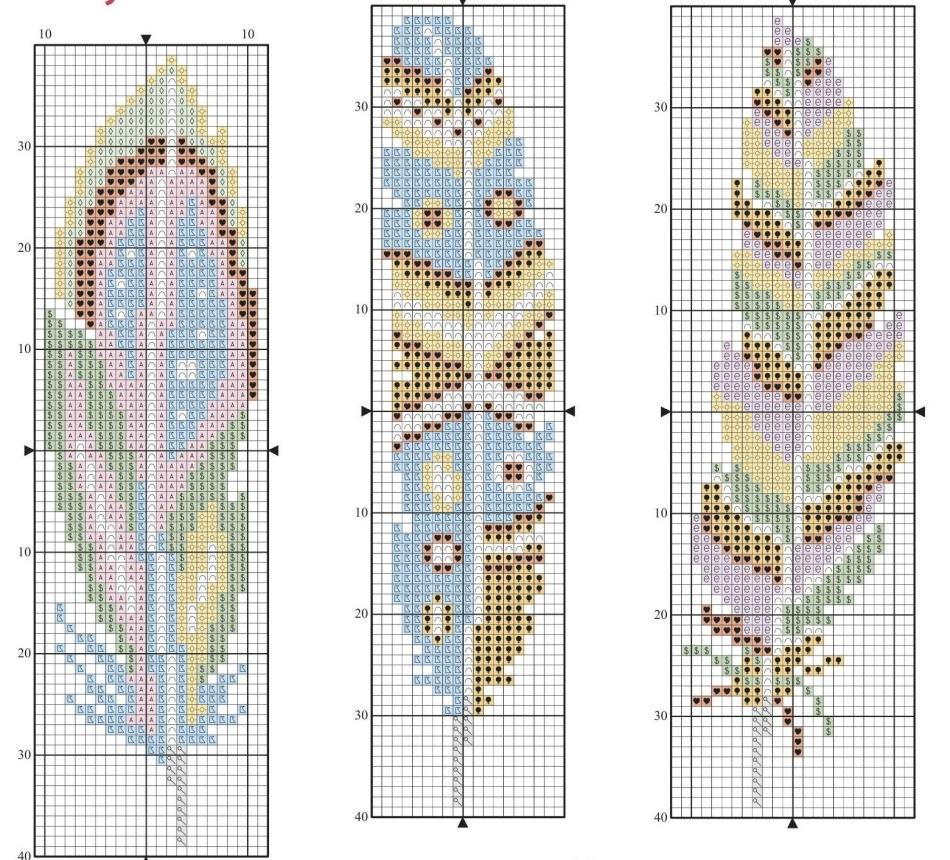 Закладка для книг схемы вышивки крестом