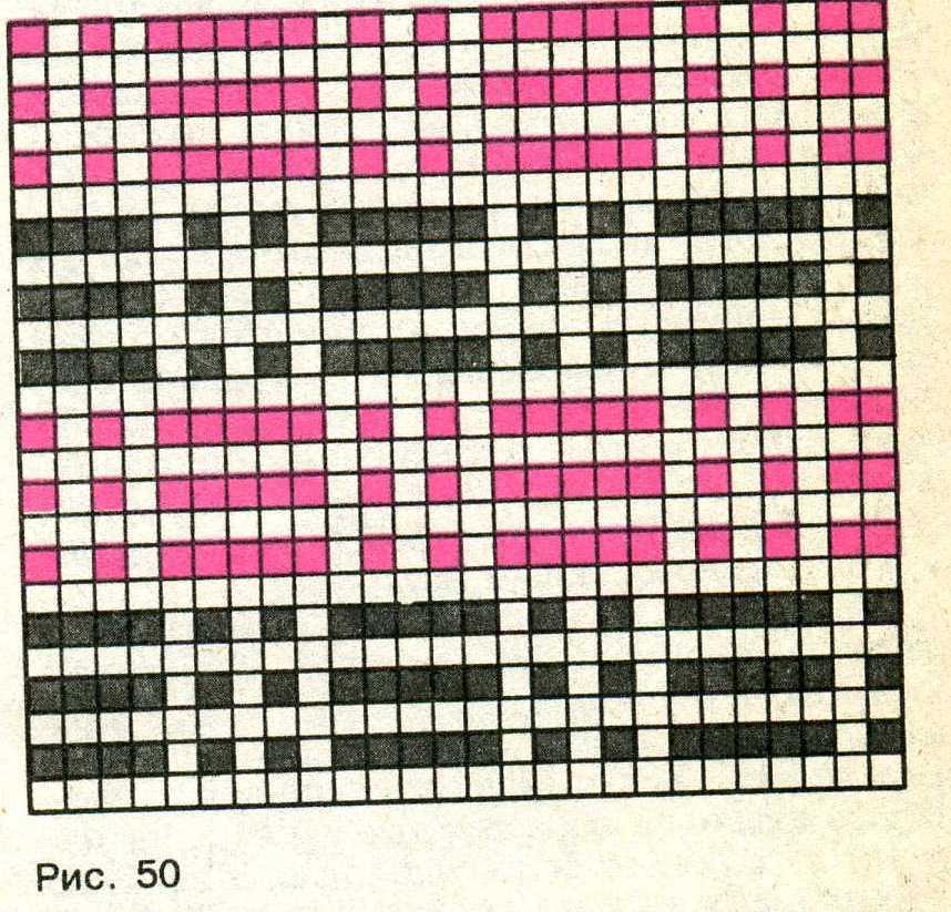 Ленивый жаккард вязание спицами 32