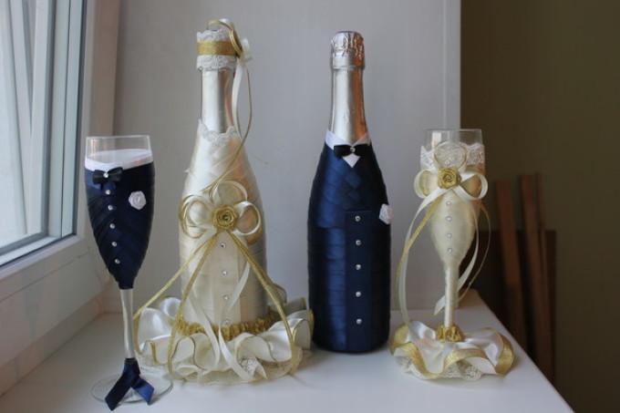 Свадебный шампанское своими руками